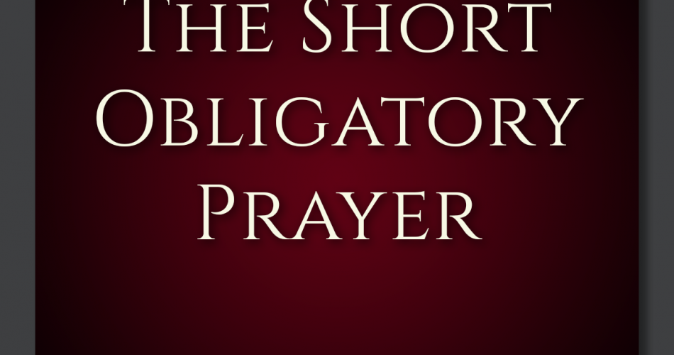 1. Short Obligatory Prayer