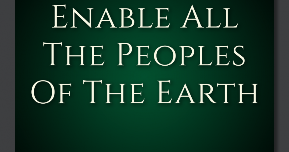 18. Enable All The Peoples