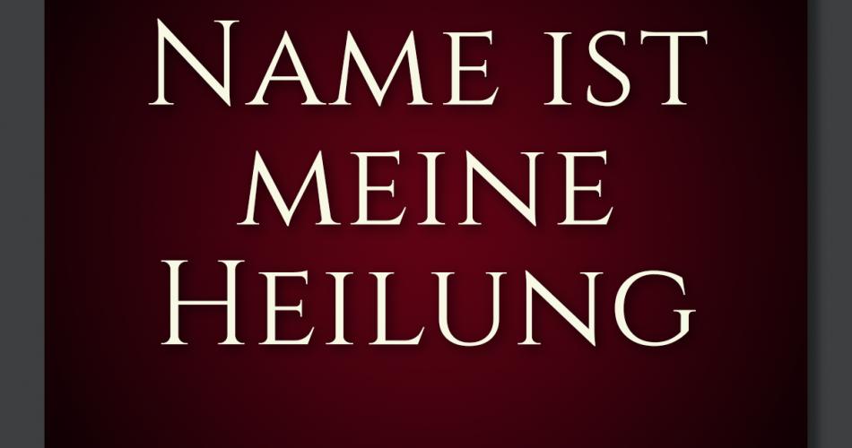 DE-05 Thy Name is My Healing