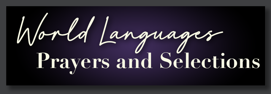 World Languages Prayers and selections