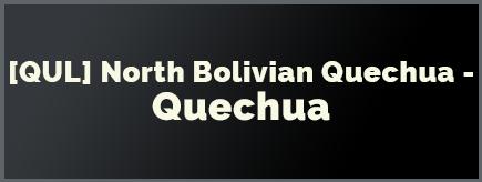 North-Bolivian-Quechua